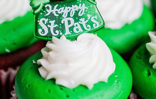 Try your hand at our recipe for St. Patrick's Day cupcakes