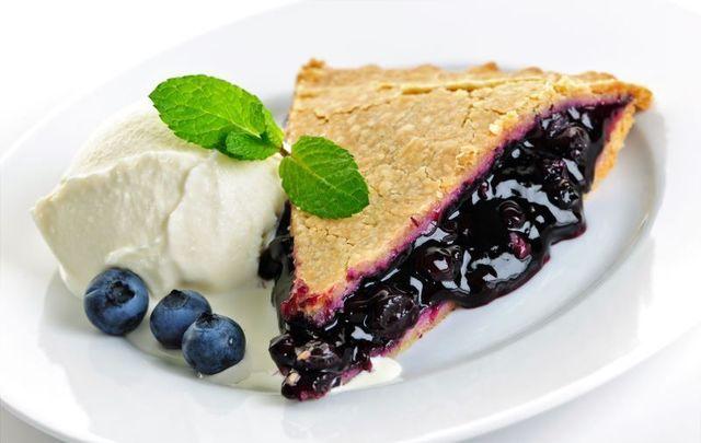 Blueberry pie in celebration of the Celtic festival of Lughnasa