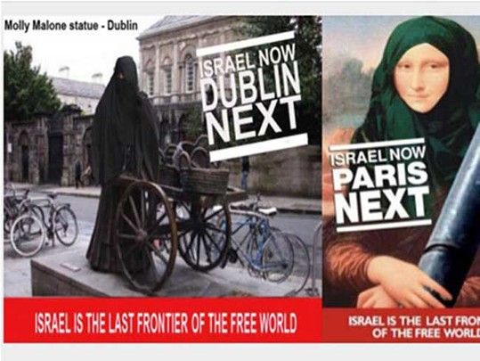 Images published by on Dublin embassy Twitter feed caused outrage and were quickly removed without comment.