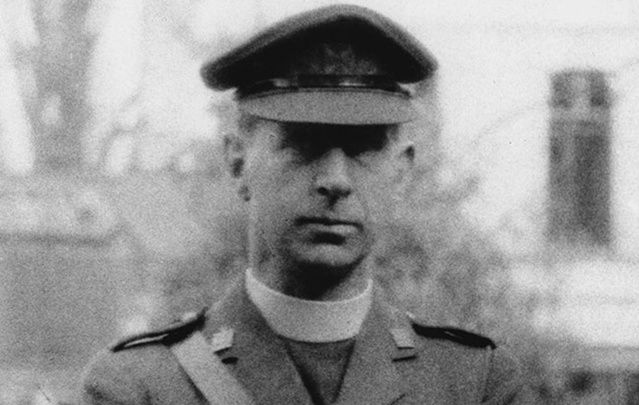 Father Browne: Ministering to soldiers in the thick of the action, Titanic priest was wounded five times and badly gassed.