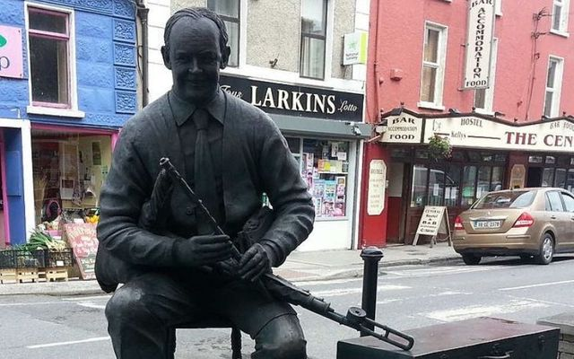 Willie Clancy\'s statue in Miltown Malbay in County Clare.