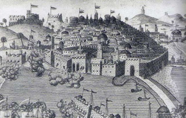 An illustration of the Sack of Baltimore.