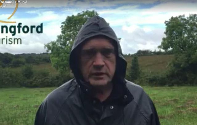 """Actor Seamus O'Rourke's bit attempted """"to prove that Longford is not the most miserable place in Ireland."""""""