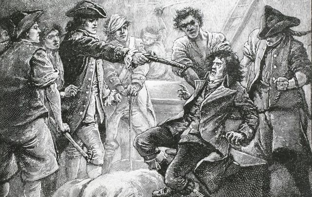 The capture of Wolfe Tone in 1798.