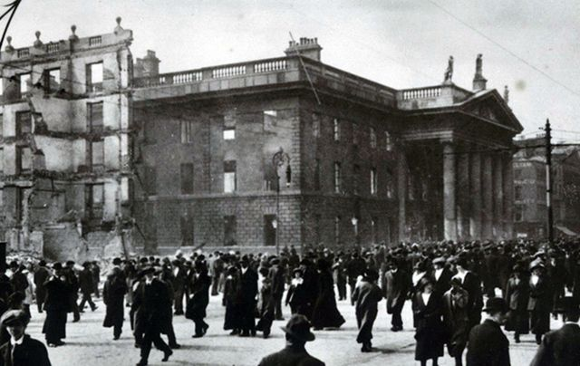 GPO destruction following the 1916 Easter Rising.