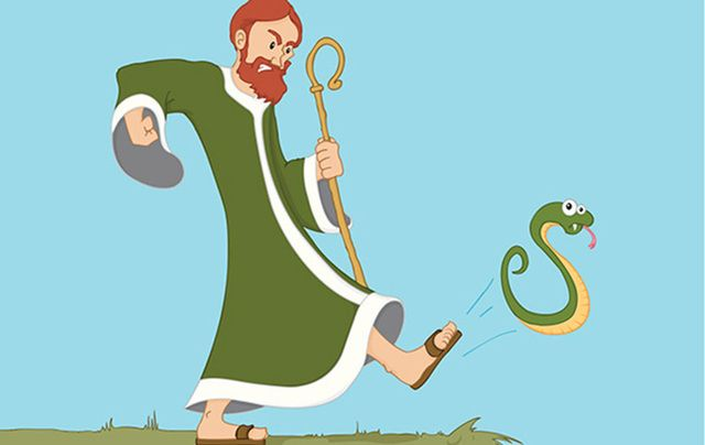 St. Patrick didn't banish all the snakes from Ireland; there were never any snakes in Ireland to begin with.
