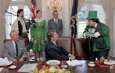 President Reagan REALLY loved St. Patrick's Day
