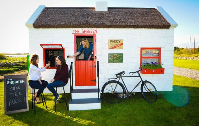 Fancy owning your own Irish pub including wheels and a thatched roof? Get your orders in.