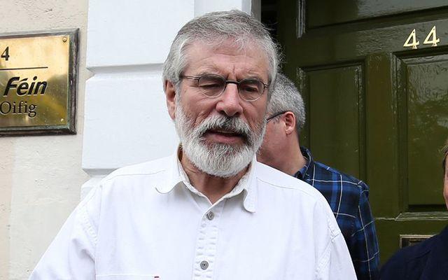 Sinn Fein President Gerry Adams .