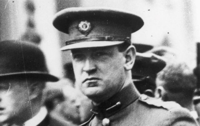 Michael Collins, pictured here only a week before his death in August 1922