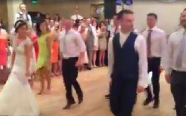 The group of professional Irish dancers put on a show for the wedding guests