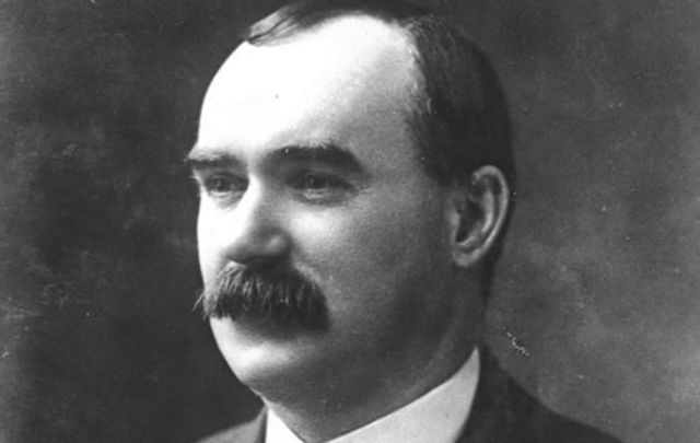 """James Connolly, the Edinburgh man calling the military shots from the GPO, was the """"heart"""" of the rebellion."""