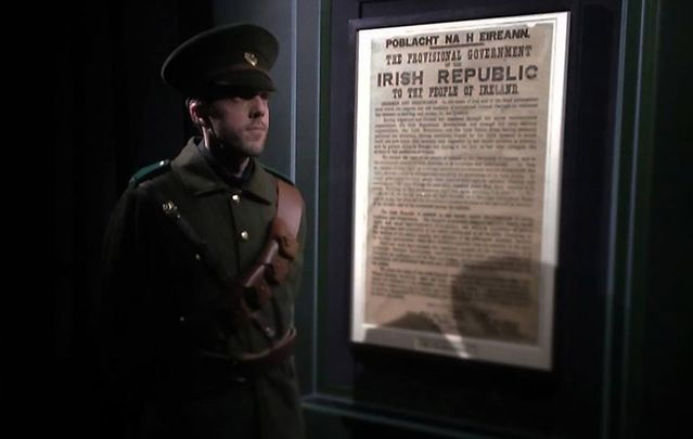 An original copy of the Proclamation rests at the GPO Witness history exhibit.