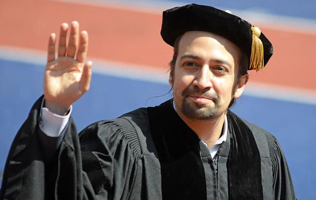 Lin-Manuel Miranda at the University of Pennsylvania last week.