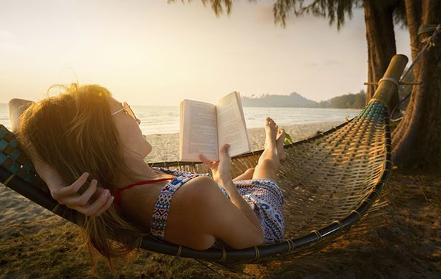 What better way to pass a lazy summer's day than reading a good book