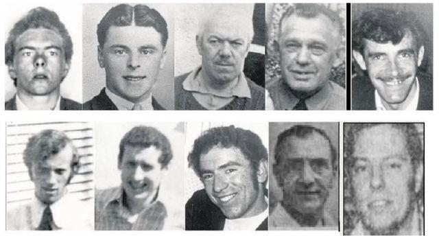 The ten workmen killed in the Kingsmill Massacre of 1976.