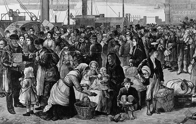 On May 31 1847 forty ships lay off Grosse Île with 12,500 passengers packed as human ballast. How does their story compare to today's refugee crisis?