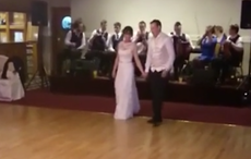 Irish bride and groom wow their guests with a little step dancing