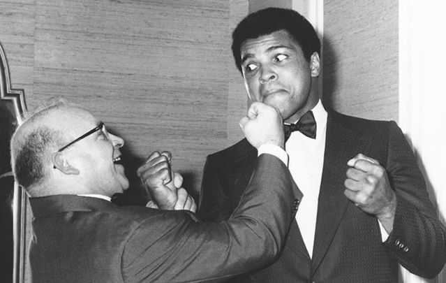 Muhammad Ali with Butty Sugrue, the Kerryman who co-promoted the fight in Ireland in 1972.