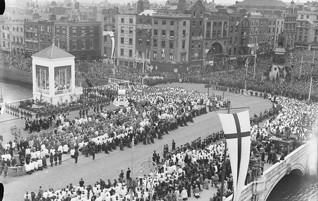The closing ceremony of the Eucharistic Congress that was held in Dublin in June 1932.