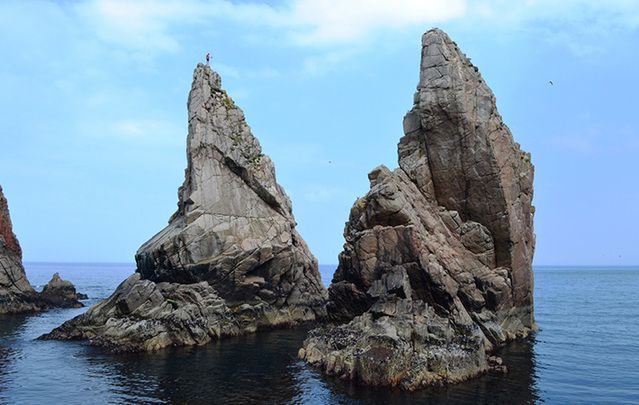 Sea stacks at Tory Island.