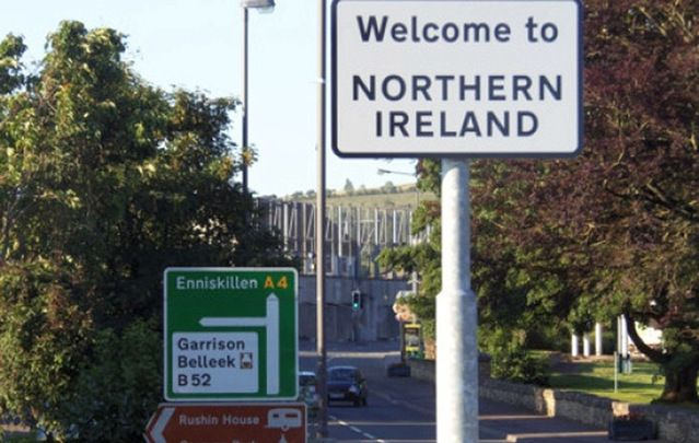 A border crossing in Co. Fermanagh.