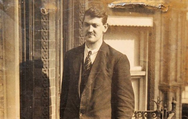 A photograph of Michael Collins that was auctioned in Ireland in 2012.