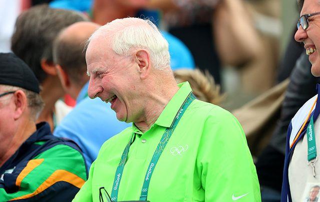 Patrick Hickey, representing Ireland in Rio, before his arrest: