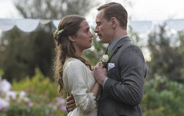 Alicia Vikander and Michael Fassbender in The Light Between Oceans.