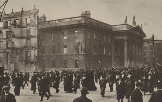 The GPO after the Easter Rising.