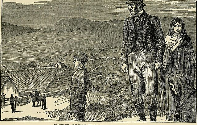 Illustration of an eviction 1877.