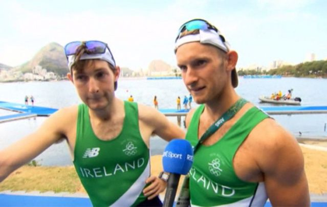 The O'Donovan brothers, from Skibbereen, won silver in men's lightweight double skulls rowing.
