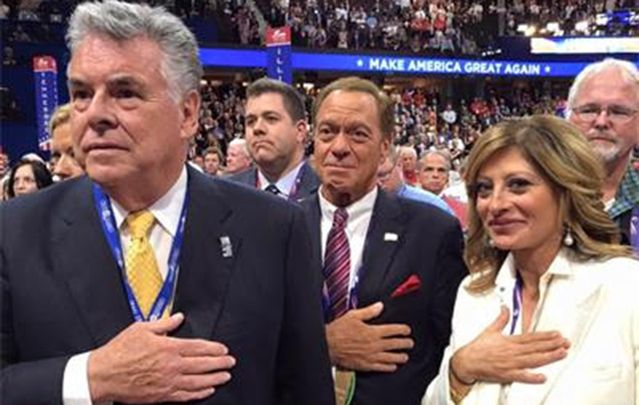 Irish American congressman Peter King stays loyal to GOP party's conservative base at the RNC.