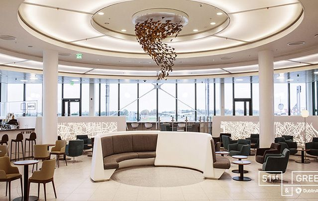 """51st & Green """"Where Ireland and America Connect"""" – first lounge of its kind in Europe's only US preclearance area."""