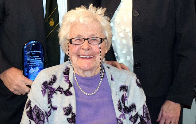Beloved Irish American community member Mary Holt Moore.