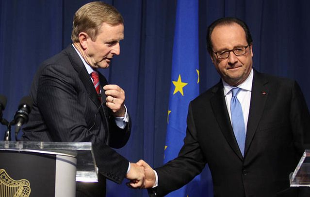 "Enda Kenny and Francois Hollande call for the UK to begin EU exit process ""as soon as possible."""