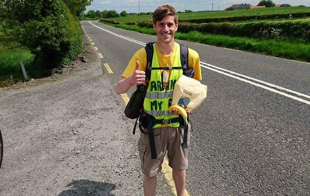Eamonn Keaveney set out from his home in Claremorris, Co. Mayo on May 1 to walk over 1,200 miles (2,000 km).