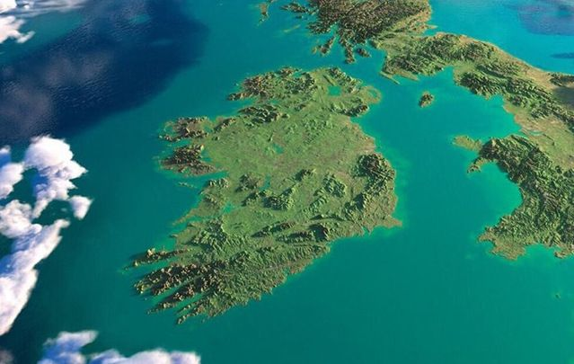 View of sunny Ireland from space: Weather warning in place, on hottest days of the year, as temperatures to hit 86F.