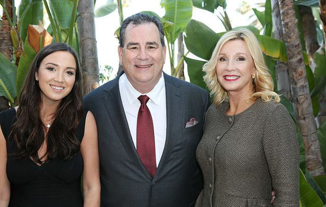 Brian Panish with his daughter Diana and wife Rosie.