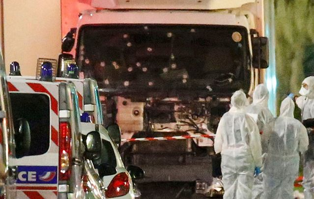 The truck used as a weapon by ISIS in Nice. Children, mothers, fathers – it is all the same for bloodthirsty terrorists, so called Islamic State.