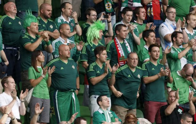 Sectarianism fades in the modern era and Northern Ireland soccer fans just want to have fun.
