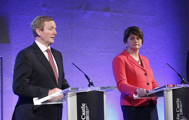 Taoiseach Enda Kenny and Northern Ireland First Minister Arlene Foster at a press conference of the North South Ministerial Council in Dublin Castle on Monday.