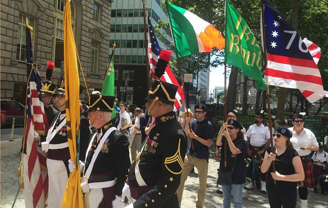 The Irish Independence Day celebration at Bowling Green on Saturday.