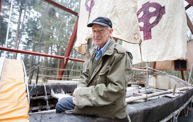 Explorer, historian and writer Tim Severin is pictured on the famous Brendan Boat at Craggaunowen visitor attraction in Co. Clare.