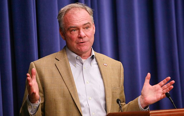 Senator Tim Kaine speaking at Presidential Scholars Briefing, June 2016.