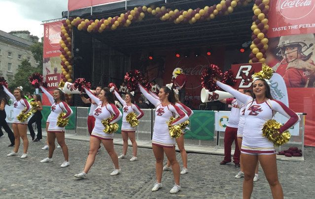 I spoke to avid college football fans from Boston College and Georgia Tech at their pep rallies and celebrations.
