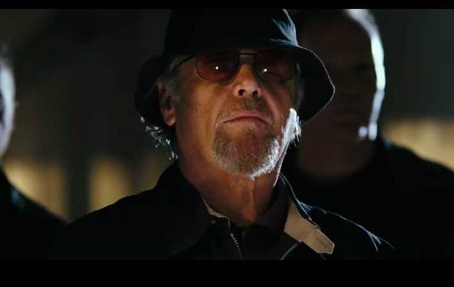 A screenshot from the trailer for the 2006 film 'The Departed,' starring Jack Nicholson.
