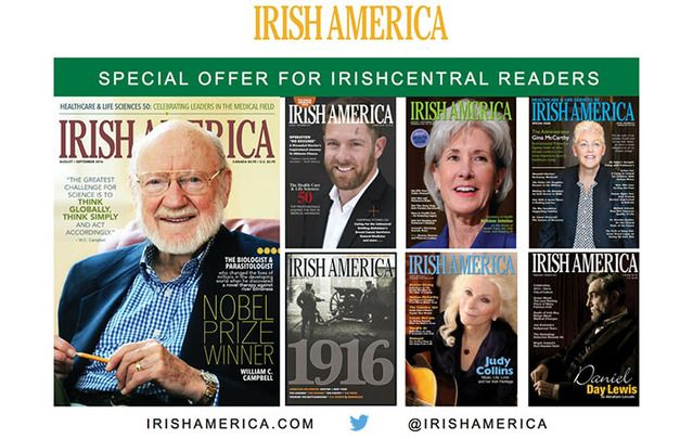 Current issue of Irish America magazine absolutely free to the first 50 to subscribe