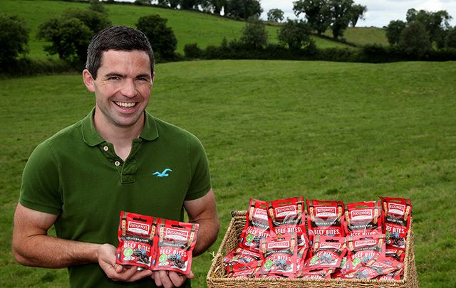 "Colm Connolly home on the farm with the ""Rucksnacks."""