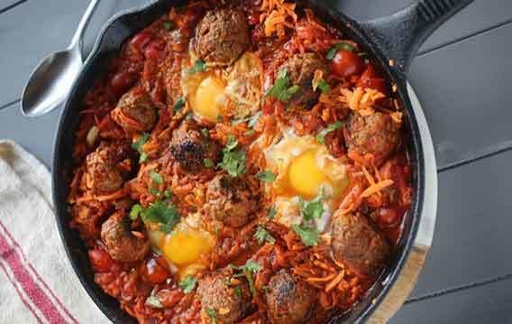 Rozanna Purcell's Beef, Chorizo & Sweet Potato Skillet.